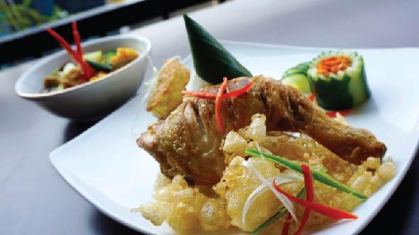 Ayam Goreng Kalasan dan Sayur Asem
